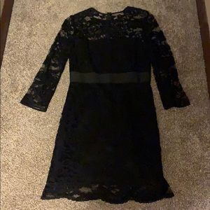 BB Dakota black lace long sleeve cocktail dress